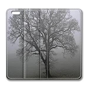 iPhone 6 Case, iPhone 6 Leather Case, Fashion Protective PU Leather Slim Flip Case [Stand Feature] Cover for New Apple iPhone 6(4.7 inch) - Tree And Fog