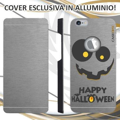 CUSTODIA COVER CASE HALLOWEEN VOLTO PER IPHONE 6S ALLUMINIO TRASPARENTE