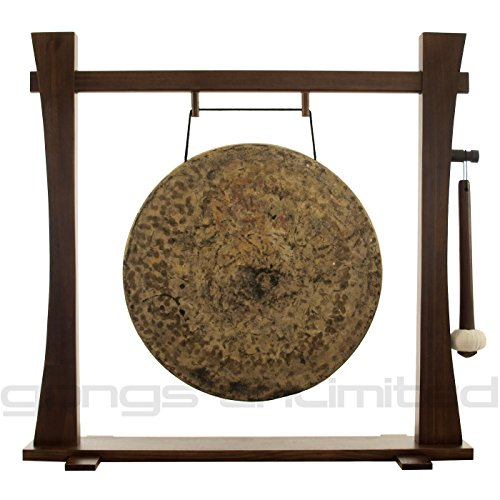 22'' Atlantis Gong on Spirit Guide Gong Stand by Gongs Unlimited