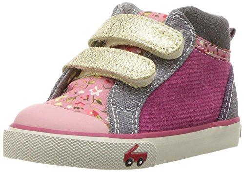 See Kai Run Girls' Kya Sneaker, Pink/Gold Glitter, 11 M US Little Kid