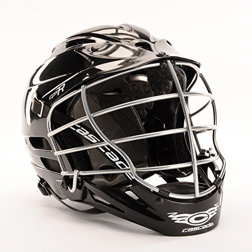 Cascade 'CPX-R' Lacrosse helmet - All White, Chrome Facemask