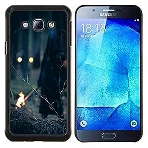 Eason Shop / Premium SLIM PC / Aliminium Casa Carcasa Funda Case Bandera Cover - Bruja de Halloween del demonio del bosque - For Samsung Galaxy A8 ( A8000 )