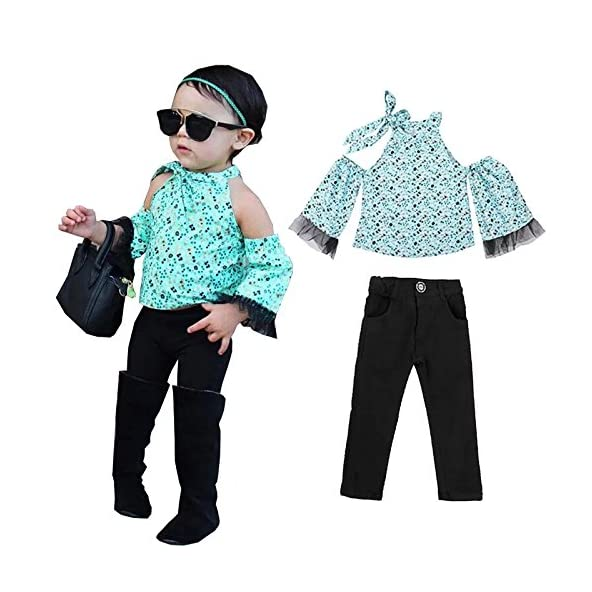 AP Boutique Baby Girl Dresses Top Fancy Jeans Clothing Set