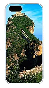 iPhone 5 5S Case Great Wall Of China 01 PC Custom iPhone 5 5S Case Cover White