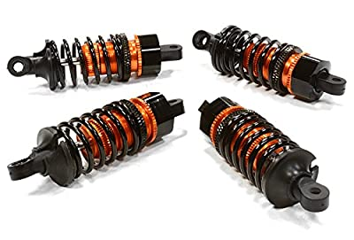Integy Hobby RC Model C26292ORANGE Billet Machined Shock Set for HPI 1/10 Sprint 2 On-Road