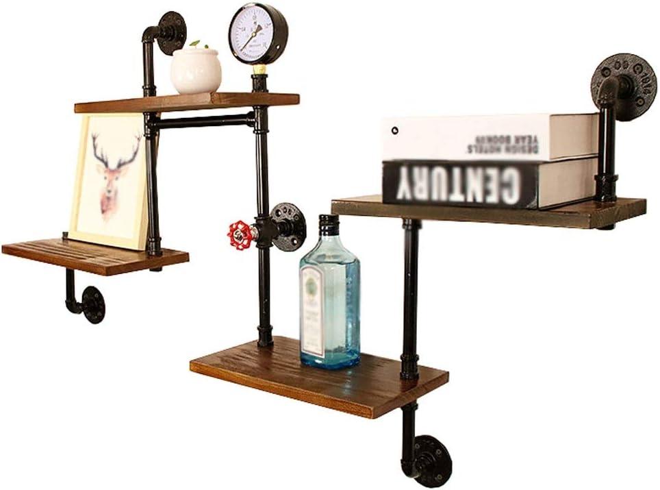 120 x 20 x 75 cm estanter/ía de ba/ño estanter/ía para libros Estante de tuber/ías industrial con 4 niveles de pared WXL