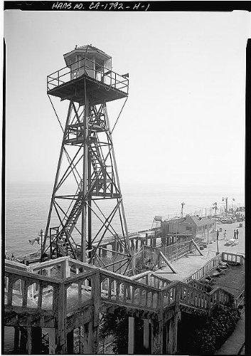 Photo: Guard Tower,Alcatraz Island,San Francisco Bay,California,CA,HABS,San - Fran Map Shopping San