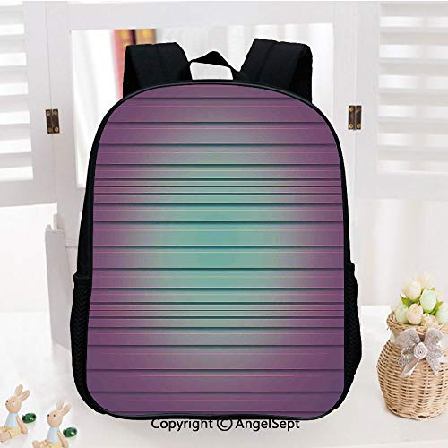 Casual Style Lightweight Backpack Vivid Artful Digital Parallel Lines Striped Textured New Lined Pattern Print School Bag Travel Daypack,Purple Blue