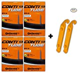 Continental 26x1.75-2.5 MTB 60mm Presta Valve Tubes (Pack of 4 w/ 2 Conti ...