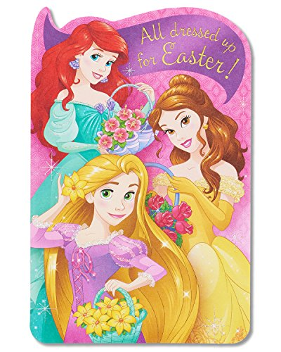 American Greetings Disney Princess Easter Card with Glitter