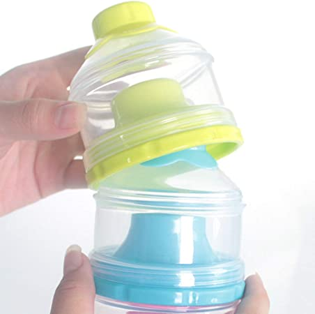 TOYANDONA 1pc Baby Milk Powder Plastic Non-Spill Baby Feeding 3-Layers Stackable Dispenser Holder Container for Infants Baby Todddlers