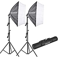 Neewer 700W 5500K Photography Studio Softbox Lighting Kit: (2)24x24 inches/60x60 centimeters Softbox Diffuser, (2)85W 5500K Continuous Light Bulb, (2)75-inch Light Stand, (1)Carrying Bag