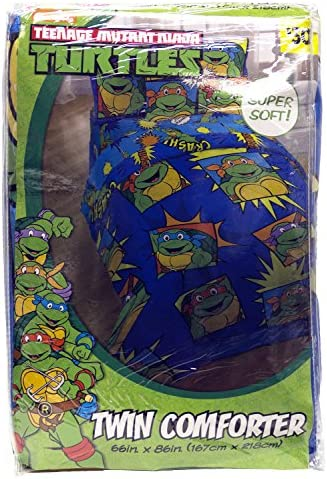 NIckelodeon Teenage Mutant Ninja Turtles Team Turtles Twin Comforter - Super Soft Kids Reversible Bedding features the Turtles - Fade Resistant ...