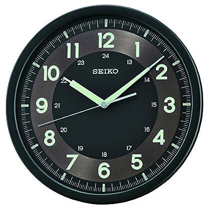 Pared Movimiento Continuo Qxa628k Con Lumibrite Seiko De Reloj zpSUMV