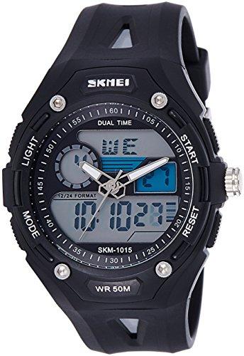 Skmei Analog-Digital Black Dial Unisex Watch – 1015BW