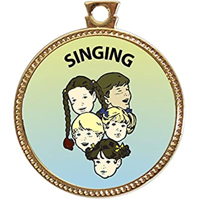 Keepsake Awards Singing Award, 1 inch Dia Gold Medal Music Arts Collection: Toys & Games