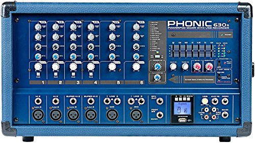 - Phonic Powerpod 630R 300W 6-Channel Powered Mixer with USB Recorder