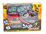 LE BI YOU Kids Funny Mini Finger Skateboard Toys with Ramp Parts Tools Finger Bicycles 2 Styles to Choose (Ramp 1)