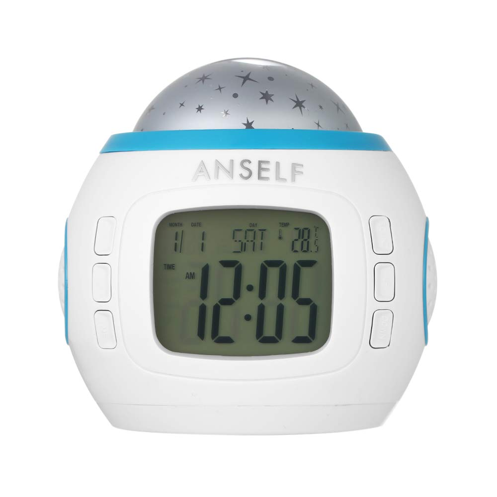 Amazon.com: Walmeck- Digital Projection Alarm Clock Temperature Starry Sky Battery Powered for Bedroom Living Room: Home & Kitchen