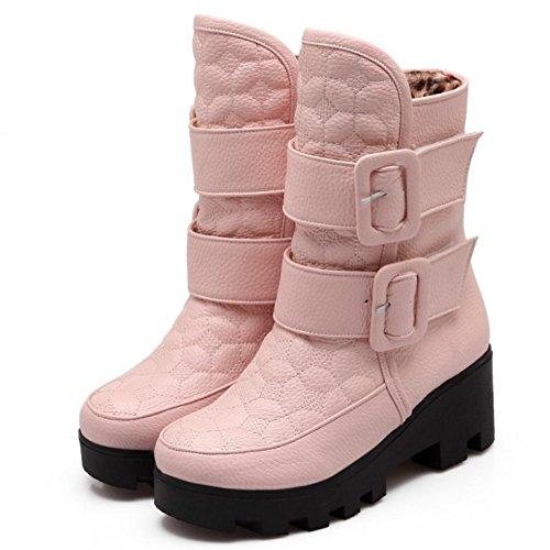 COOLCEPT Botas de Invierno para Mujer Pink-H