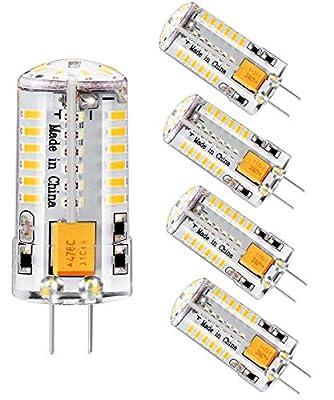 G4 LED Light Bulb led Bulb Smart Bulb G4 Base Bi-Pin Lights Non-dimmable G4 Bulb Landscape AC/DC12V 4W/40W Equivalent Light Replacement Halogen Lamp Bulb Led G4 Light bi-pin Base 2700k (Pack of 5)