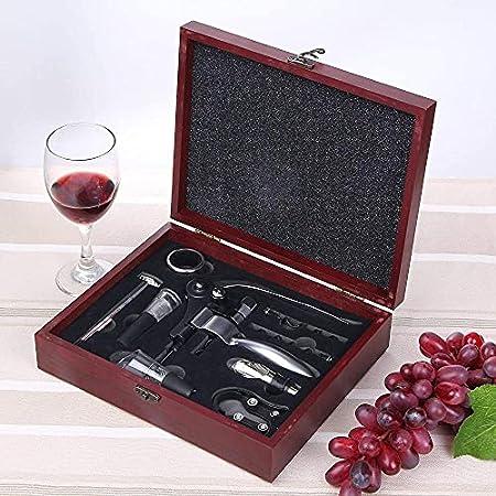 Abridores de botellas abridor de vino 9 unids lujo conejo sacacorchos palanca brazo accesorios vino conjuntos con abrebotellas cortador de hoja aireador vertedores/tapones