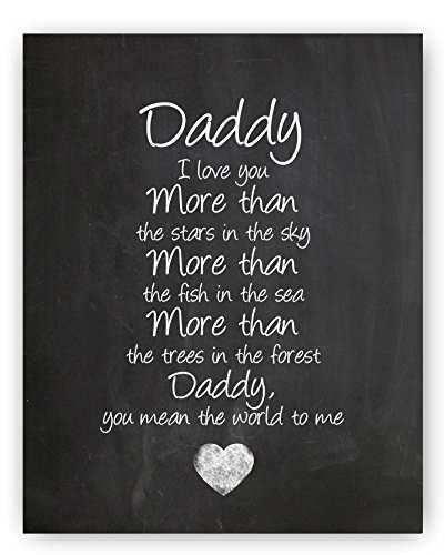 Mom quote chalkboard wall art print the for Thoughtful gifts for dad from daughter