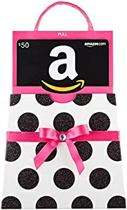 Amazon.com Gift Card in a Polka Dot Reveal (Classic Black Card Design)