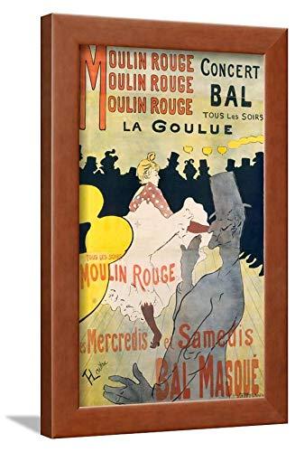 ArtEdge Moulin Rouge-La Goulue by Henri de Toulouse-Lautrec, Wall Art Framed Print, 18x12, Brown Unmatted ()