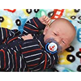 """My Cute Reborn Baby Boy Doll 14"""" inches Preemie Newborn with Beautiful Accessories Anatomically Correct Washable Berenguer Real Realistic Soft Vinyl Alive Lifelike Pacifier (Cute Baby Boy Doll)"""