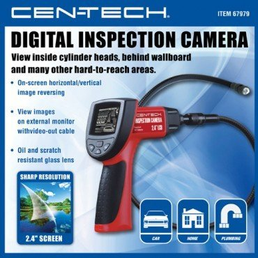 Wireless Digital Inspection Camera with 2.4-inch Color LCD, On-screen Image Reverse and 180° Rotation