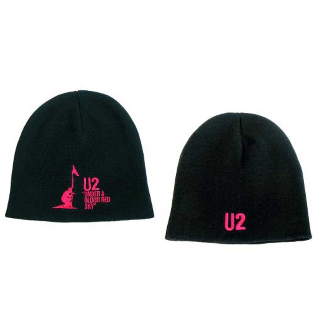 U2 Beanie Hat Cap Under A Blood Red Sky band logo new Official black