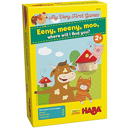 HABA My Very First Games - Eeny Meeny Moo - Two Amusing Memory Games for Ages 2 and Up (Made in Germany) (Memory Game First)
