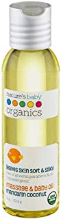 product image for Nature's Baby Organics Baby Oil, Mandarin Coconut, Cruelty Free, Gentle on Skin, 4 oz