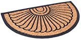 BirdRock Home 18 x 30 Half Round Natural Coir and Rubber Doormat | Natural Fibers | Outdoor Doormat | Keeps your Floors Clean | Decorative Design | Non Brush Coir