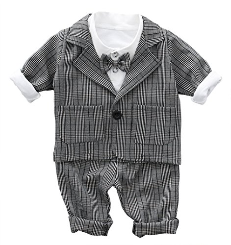 44b3beea64a2d (ラボーグ)La Vogue ベビー服 フォーマル スーツ 長袖 シャツ ジャケット ズボン 3点セット 正装