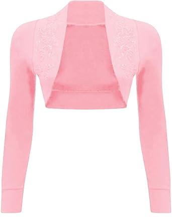 c87bf3ef01c85 New Womens Plus Size Sequin Beaded Bolero Shrug Cardigan Tops at ...