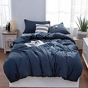 Amazon Com Douh Jersey Knit Cotton Duvet Cover King Size