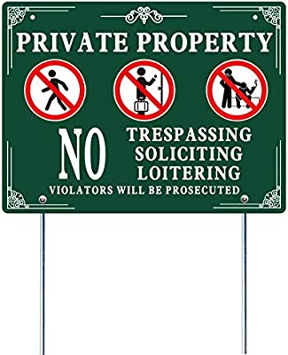 CGSignLab Victorian Frame Double-Sided Weather-Resistant Yard Sign 5-Pack No Loitering 27x18