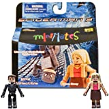 Marvel MiniMates Series 18 Spider-Man 3 Unmasked Black-Suited Spider-Man and Gwen Stacy