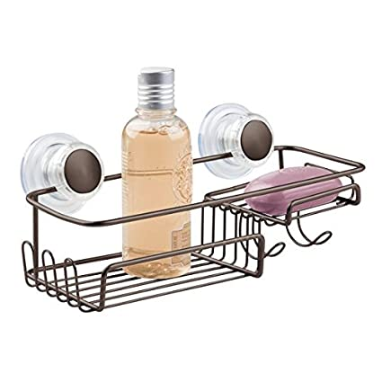 Admirable Amazon Com Mdesign Suction Bathroom Shower Caddy Basket For Download Free Architecture Designs Intelgarnamadebymaigaardcom