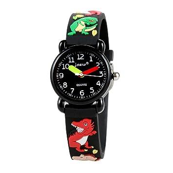 Reloj digital para niños Relojes de dibujos animados a prueba de agua para niños Regalo de cumpleaños con carátula giratoria para niños: Amazon.es: Bebé