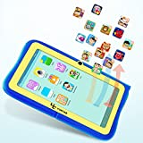 "Yuntab Kids Tablet Q88R 7"" Allwinner A33,1.5Ghz Quad Core Android 4.4 Tablet PC,512+8GB,HD 1024x600,Dual Camera,WiFi,3D Game &TF Card,Supported with Parental Control Software - iWawa(Blue)"
