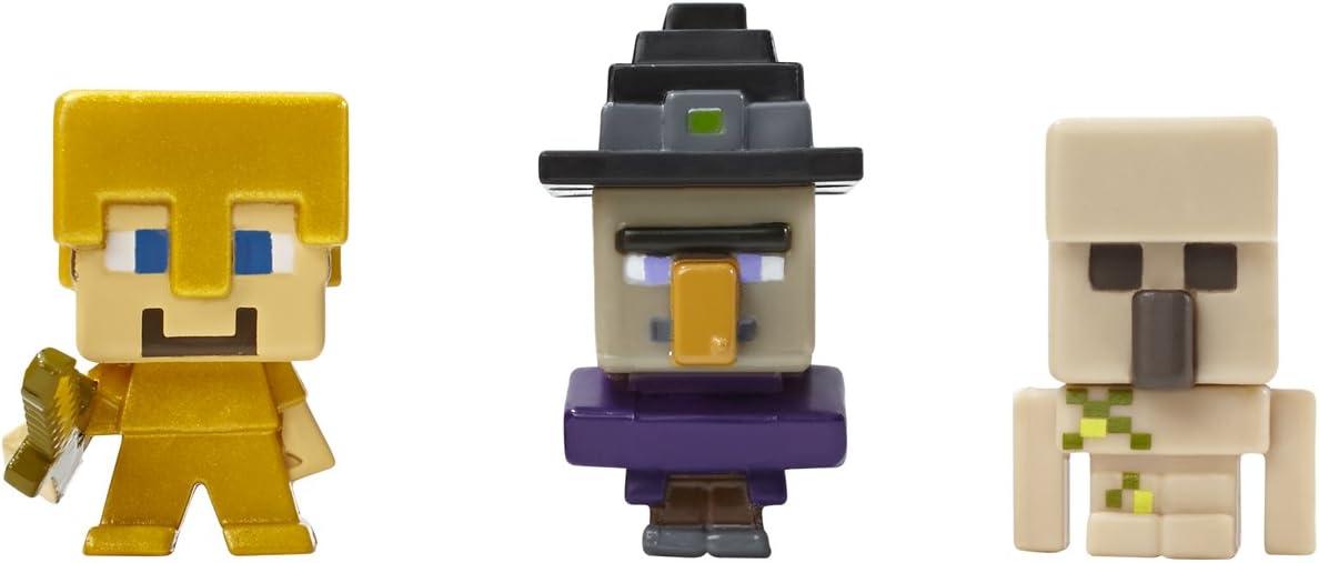 Mattel Minecraft - Pack 3 Mini Figuras - Steve?, Witch y Iron Golem: Amazon.es: Juguetes y juegos