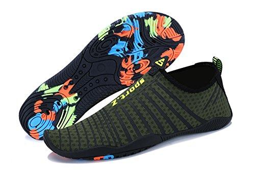 UMmaid Plongée Surf armée Piscine pour Chaussures Femme Aquatique et 4 Sport Natation Verte Plage Homme Aquatique rRrwPq