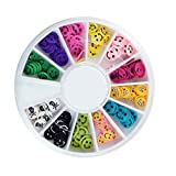 120PcsGoodly Popular 3D Random Mixed Fimo Nail Art Wheel Polymer Clay Slices Primer DIY Fashion Tips Cellphone Decor Type Cake