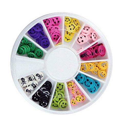 120pcsgoodly Popular 3d Random Mixed Fimo Nail Art Wheel Polymer