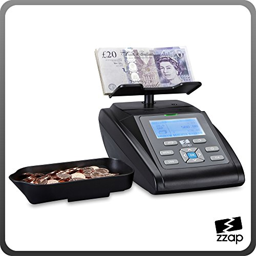 The ZZap MS40i Money Counting Scale - Inbuilt printer, battery powered, counts a till in less than 2 minutes, checks coin bags and banknote bundles, save data to memory or PC and more!