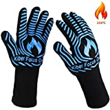 BBQ Grilling Glove Oven Mitts Heat Resistant Kitchen Cooking Gloves Insulated Non-slip Silicone With Potholder for Men Women Barbecue