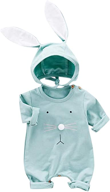 Easter Infant Clothes Baby Boy Girl My First Easter Outfits Bunny Romper+Pants+Rabbit Ears Hat